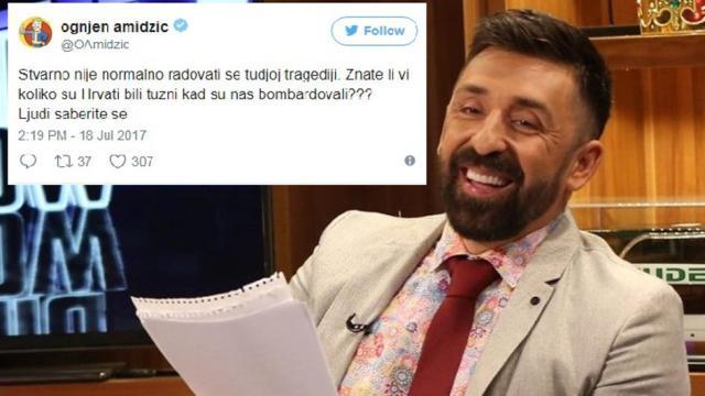 Огњен Амиџиќ ги налути сите  Се шегуваше со пожарите во Хрватска